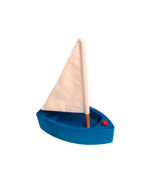Grimm's Spiel and Holz Sailing Boat - Blue