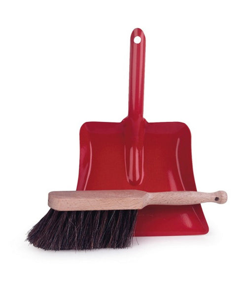 Egmont Metal Dustpan and Wooden Brush