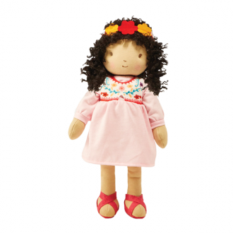 Bunnies by the Bay Global Sisters Araceli Latin Fabric Doll