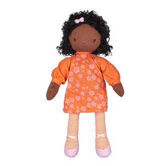 Bunnies by the Bay Global Sisters Hayley Dark Skinned Fabric Doll