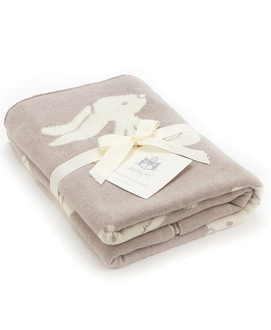 Jellycat Bashful Beige Bunny Cotton Bassinet Blanket