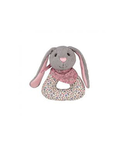 Apple Park Bunny Patterned Rattle