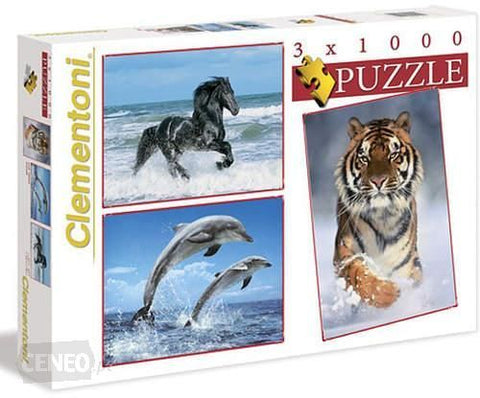Clementoni Animals Jigsaw Puzzle 3 x 1000 pieces