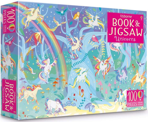 Usborne Book and JIgsaw Puzzle - Unicorns.