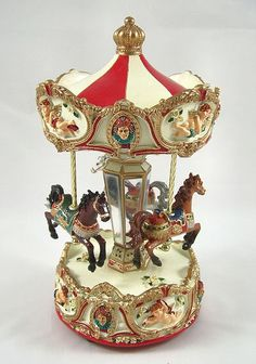 Goodwill Musical Horse Carousel Wind Up 15cm