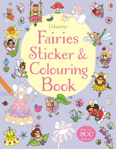 Usborne Fairies Sticker and Colouring book
