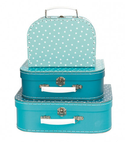 Egmont set of 3 Petrol Star Suitcases