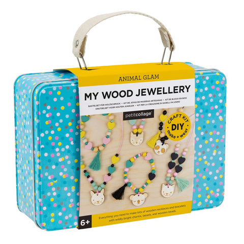 Petit Collage My Wood Jewelry DIY Design Kit Tin