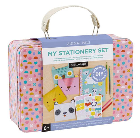 Petit Collage My Stationery Set DIY Design Kit Tin