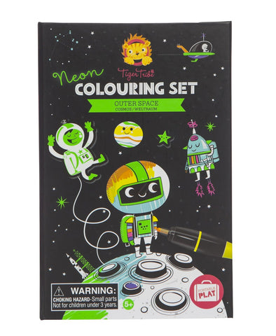 Tiger Tribe Colouring Set Outer Space