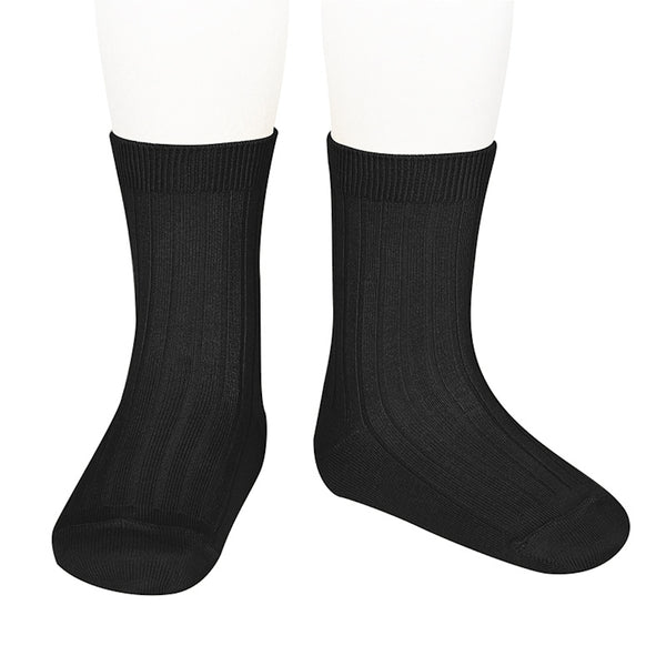 Condor Ankle Ribbed Sock (#900 Black)