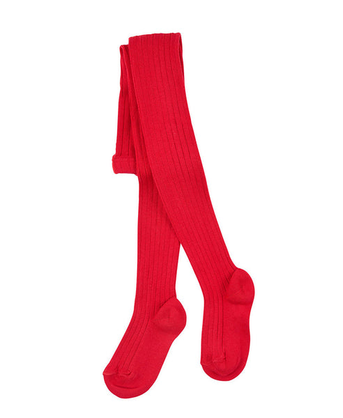 Condor Ribbed Tights (#550 Rojo Red)