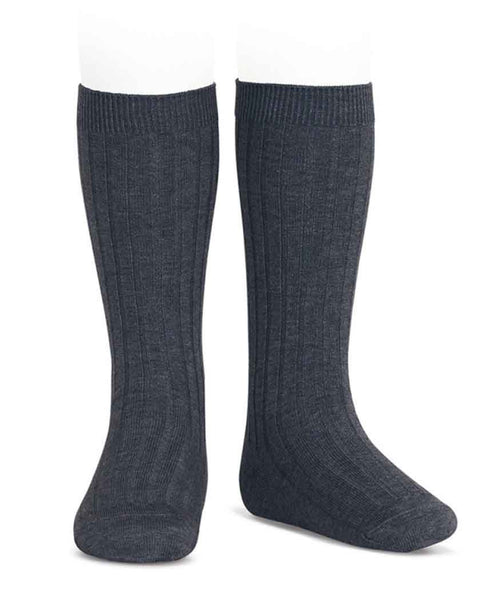 Condor Knee Hi Ribbed Sock (#290 Antracita)