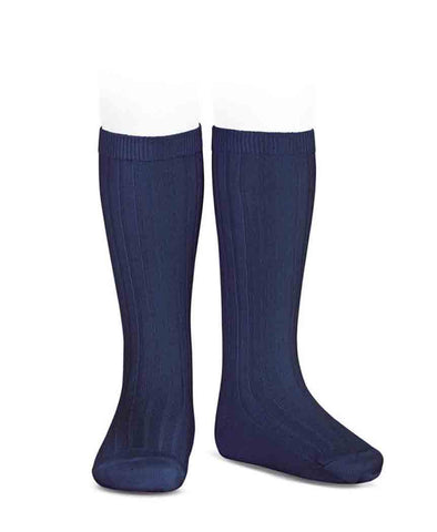 Condor Knee Hi Ribbed Sock #480 Marino Navy