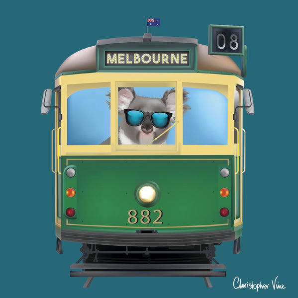 Christopher Vine Melbourne Tram Card