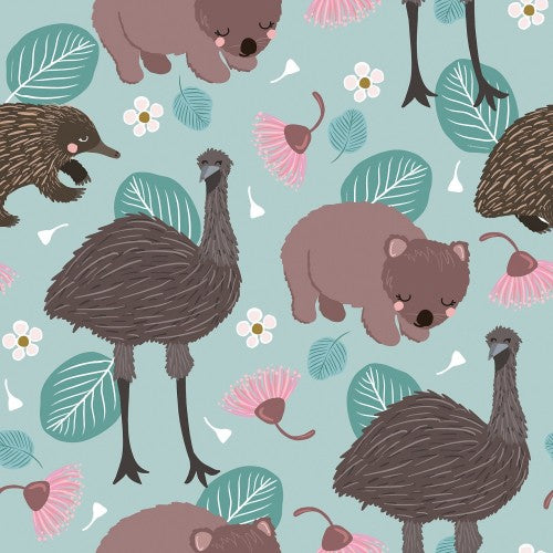 Emu and Wombat Card