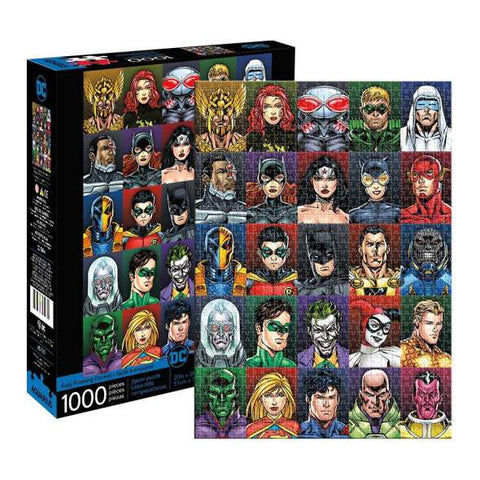 DC Comics Faces 1000 Piece Jigsaw Puzzle