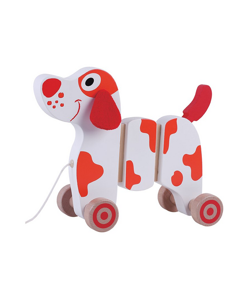 Toyslink Pull Along Wooden Dog