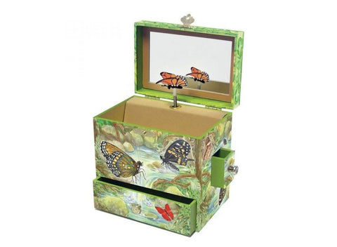 Enchantmints Music / Jewellery Box Monarch Butterflies