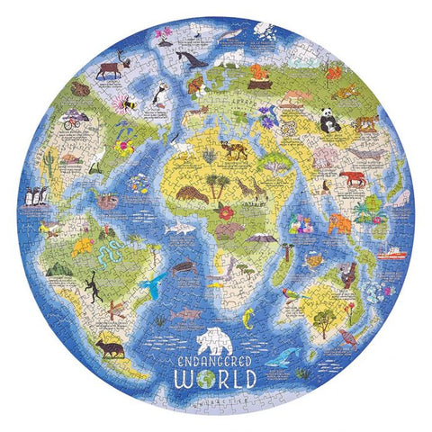 Ridley's Endangered World 1000pc Jigsaw White