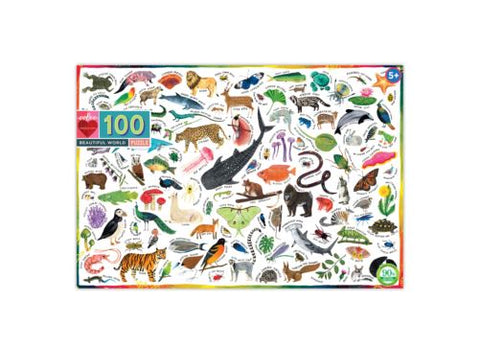 Eeboo Beautiful World Puzzle 100pc