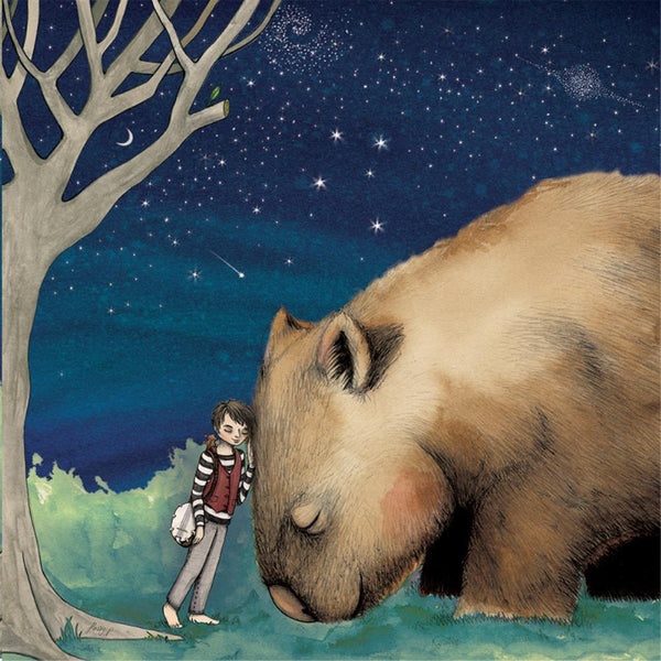 Lalaland Greeting Card Giant Wombat Boy