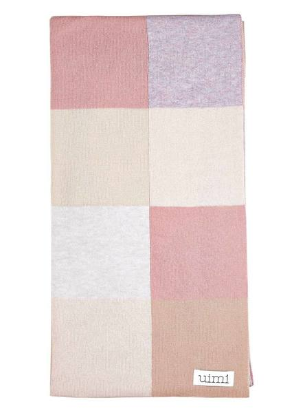 Uimi Frankie Double Sided Patchwork Blanket in Egyptian Cotton. Size: Bassinet. Colour: Antique Rose