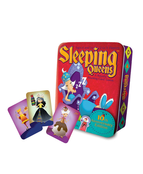 Gamewright Sleeping Queens Card Game 10th Anniversary Tin