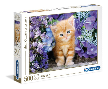 Clementoni Ginger Cat in Flowers Jigsaw Puzzle 500pc