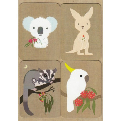 Gillian Mary Koala and Friends Removable Magnets Card