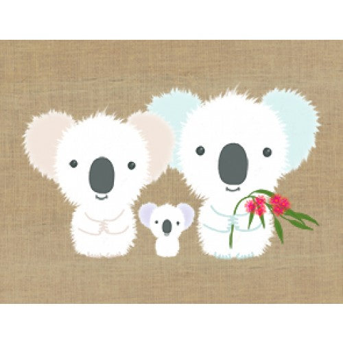 Gillian Mary Super Cute Card Koala Family Gift Card