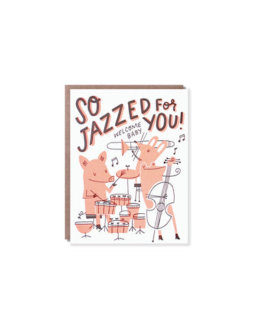 Hello Lucky Jazzed for You New Baby Card