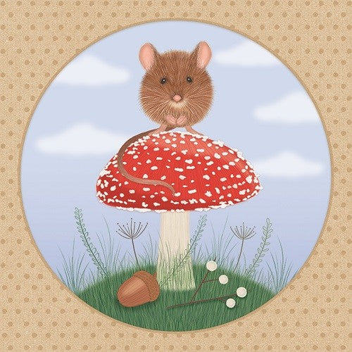 Sledge Illustrations Mousy Mushroom Birthday Card