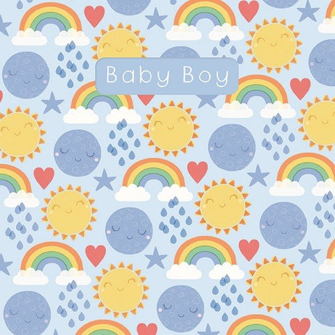 Sledge Baby Boy  Rainbow/Sun Card