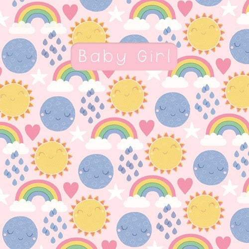 Sledge Baby Girl Rainbow/Sun Card