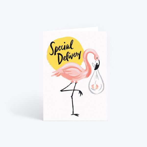 Idlewild Flamingo Special Delivery Card