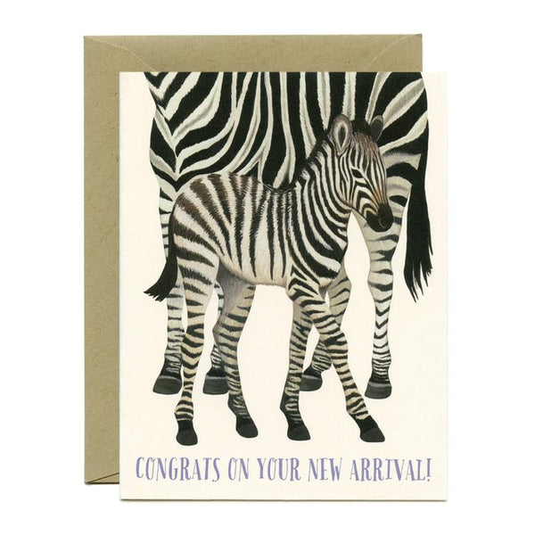 Yeppie Paper Zebra New Arrival Card