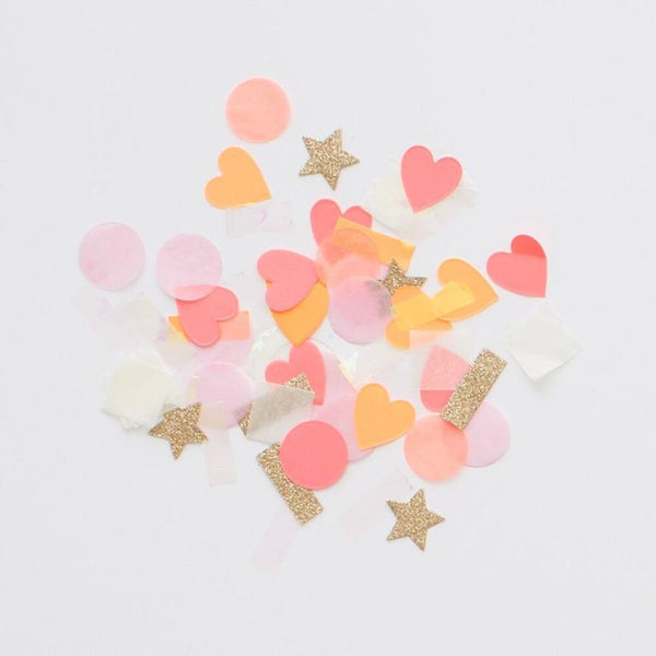 Meri Meri Party Confetti Pink Shapes