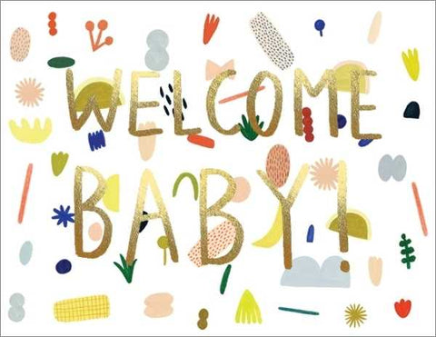 Kate Pugsley Foil Card Playful Baby
