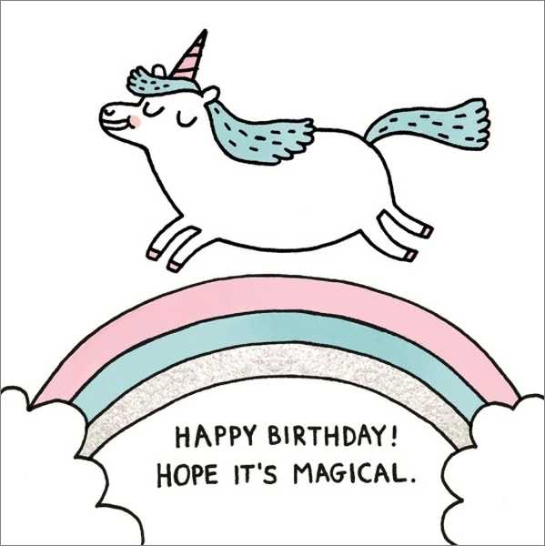 Gemma Correll Magical Birthday Card
