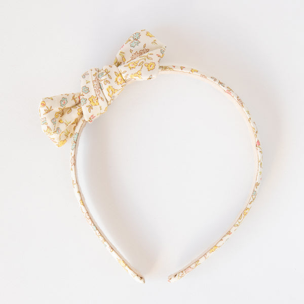 Pretty Wild Zoe Bow Headband Liberty Danish Floral