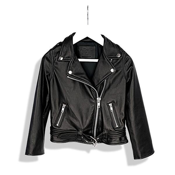 Laer LA Black Moto Leather Jacket Classic