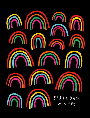 Badger and Burke Rainbow Birthday Wishes Card