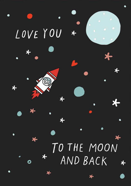 Ohhh Deer Enamel Pin - Love You to the Moon and Back Card