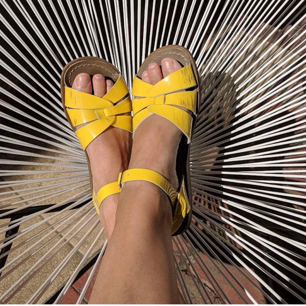 Salt Water Sandal Yellow Adult