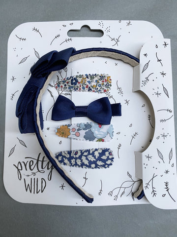 Pretty Wild Rosie with Polly Snaps Set: Navy