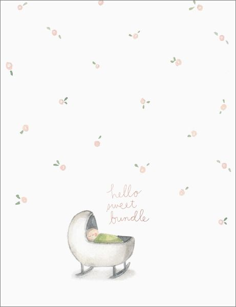 E Francis Hello Sweet Bundle Foil Baby Card