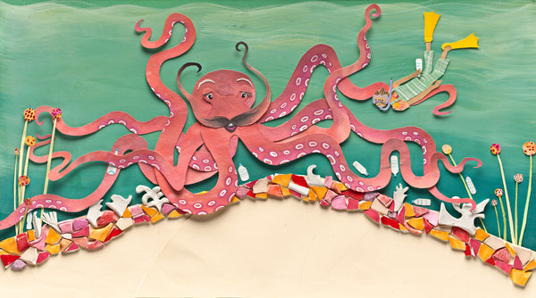 Tai Snaith Limited Edition You Might Find Yourself In A New Friend's Garden' Print - Octopus