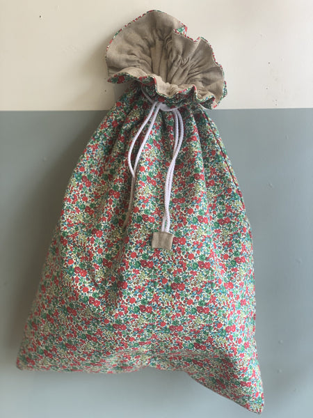 Pretty Wild Genuine Liberty Santa Sack - Christmas Floral