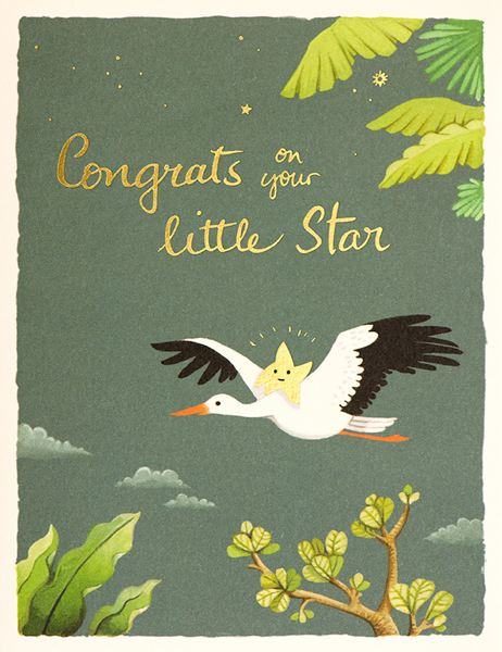 Joojoo Paper Little Star Foil Card